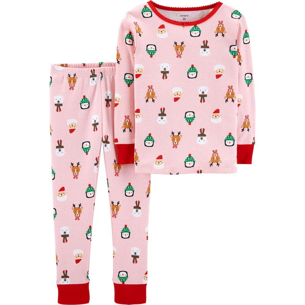 23198cdce93835 Carter s Toddler Girl Christmas Tops   Bottoms Pajama Set