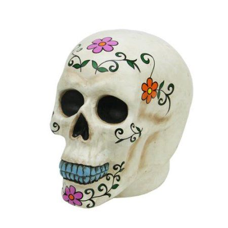 775 inch Spooky Life-Sized Day of the Dead White Skull Halloween - skull halloween decorations