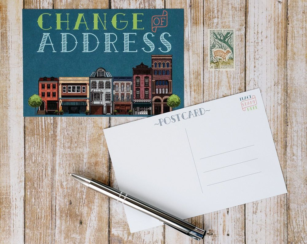 Change Of Address Postcards Moving Post Card 4x6 Printed Address Change Blank To Fill Out And Mail In 2020 Change Of Address Postcard Moving Announcement Postcard