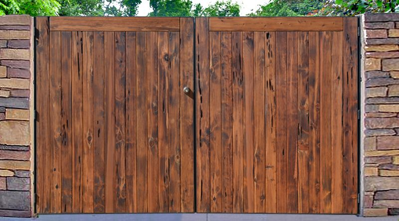 Driveway gate designs from historic record sfg90 for Wooden driveway gates designs