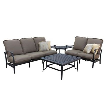 Messina Conversation Set Replacement Cushions In Canal Blue Patio Sectional Patio Seating Sets Porch Furniture