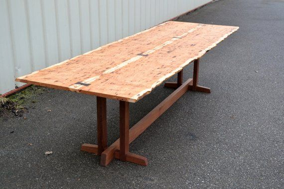 Peachy Live Edge Hickory Dining Table With Nakashima Style Base In Ibusinesslaw Wood Chair Design Ideas Ibusinesslaworg