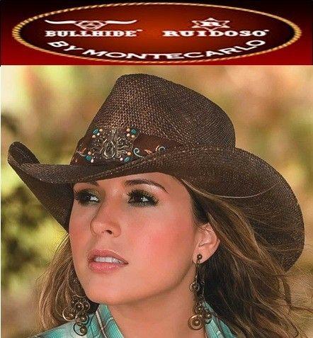 NEW Montecarlo Bullhide GYPSY Western Women s Bao Straw Ladies Cowboy Hat  19801014a3f