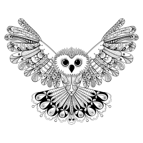 Advanced Animal Coloring Page 22 Kidspressmagazine Com Owl Coloring Pages Hand Drawn Vector Illustrations How To Draw Hands