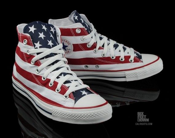 9866daf32c9 Stars and Stripes Chucks  converse  chucktaylor  hightops  flag  USA