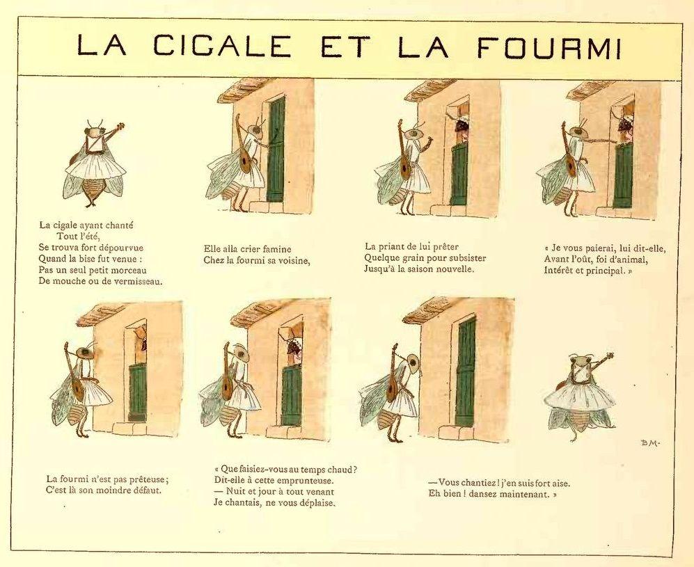 La cigale et la fourmi op culture illustration - Illustration la cigale et la fourmi ...