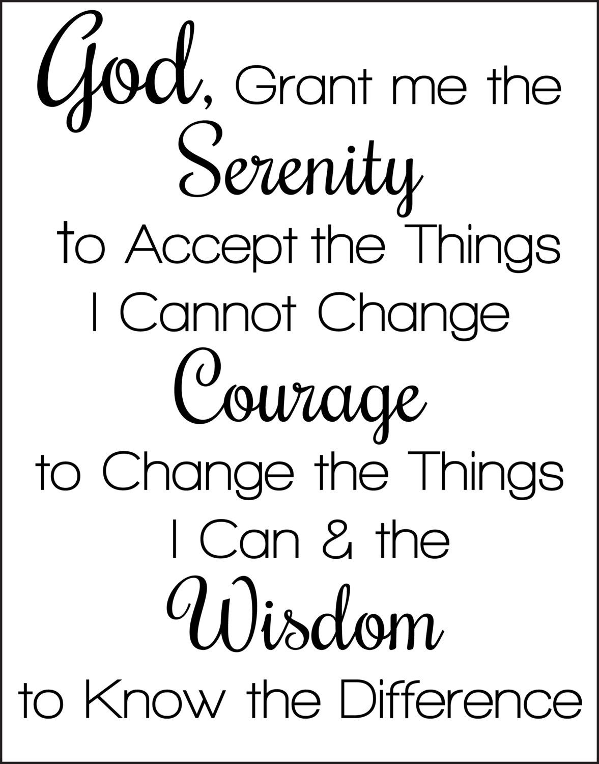 photo relating to Serenity Prayer Printable identify Serenity Prayer Printable tattoo Options Serenity prayer