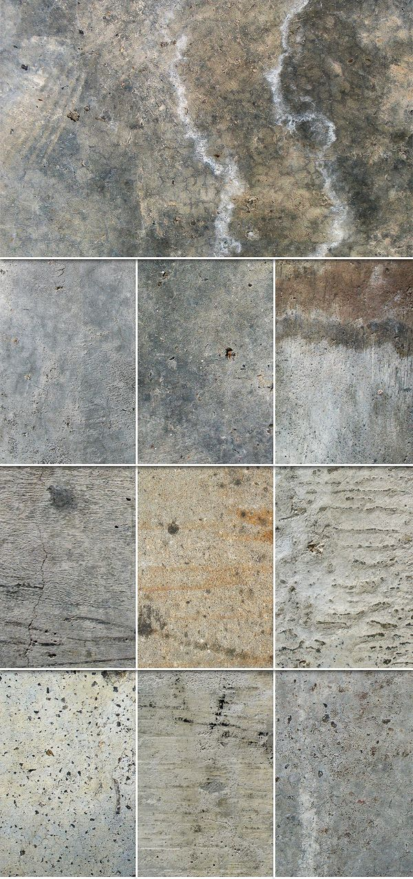 Today we have a great set of concrete textures that can be for Perfect concrete floors