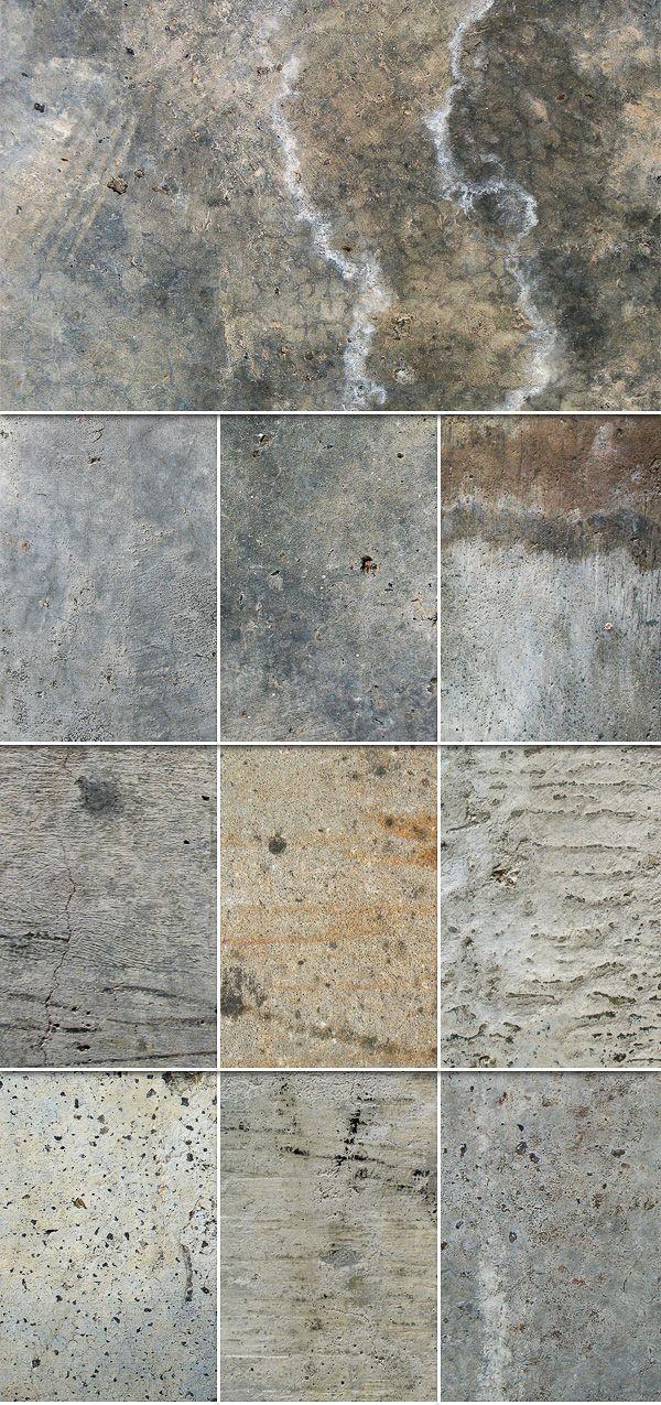 10 diferentes texturas en concreto tablaroca Pinterest - paredes de cemento