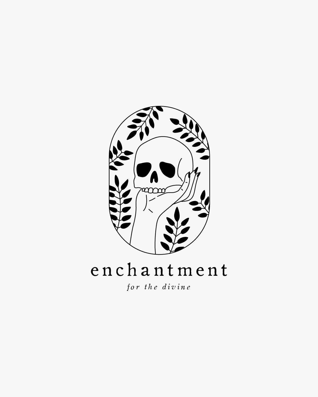 Skull Logo Minimalist Logo Logo For Sale Botanical Logo Premade Logo Template Boho Logo Jabones Tatuajes Proyectos
