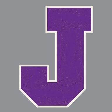 Letterman Varsity Letters, Purple Cork, J