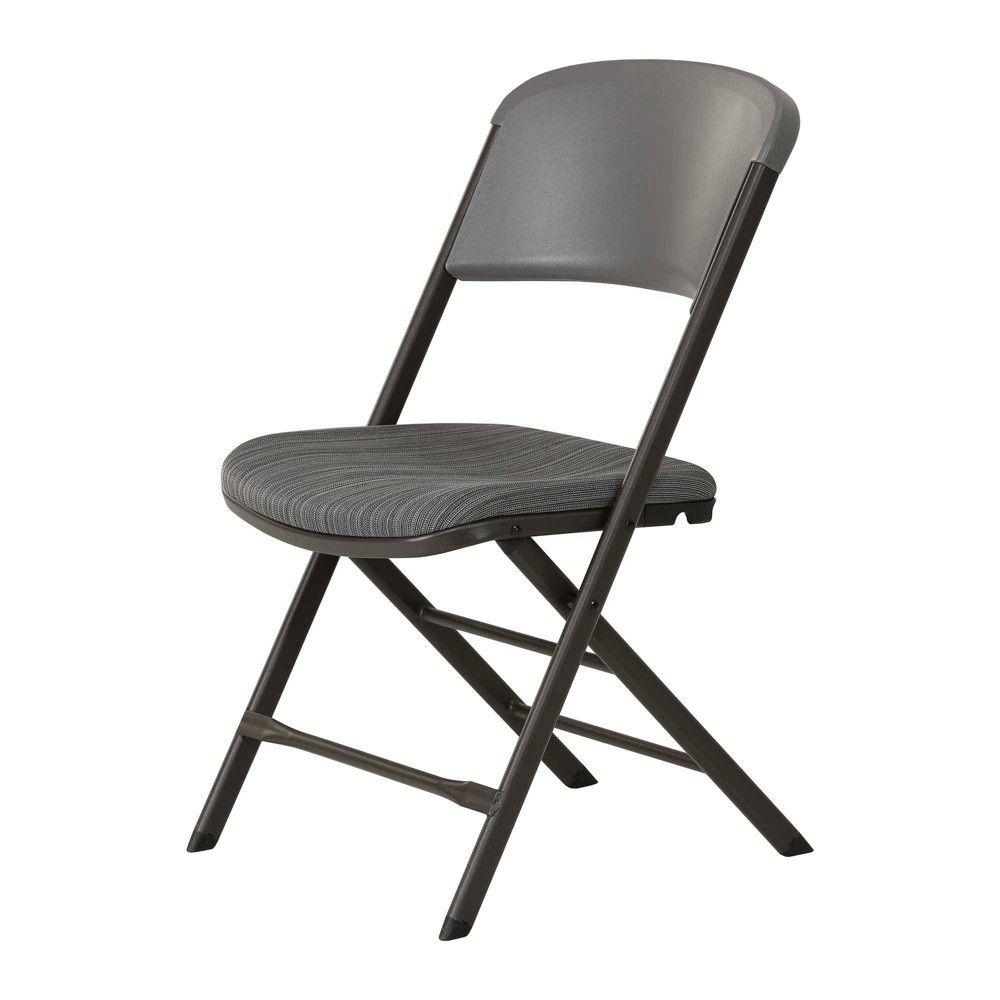 4pk Padded Commercial Grade Folding Chair Gray Lifetime