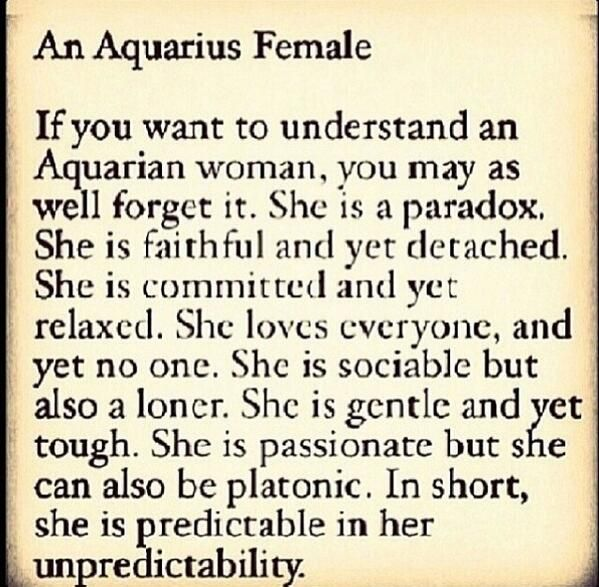 astrology about aquarius woman