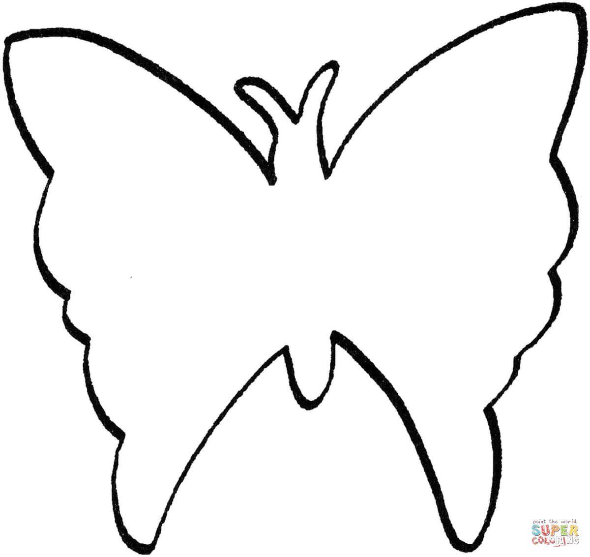 Resultado de imagen para mariposa silueta para colorear | MARIPOSAS ...