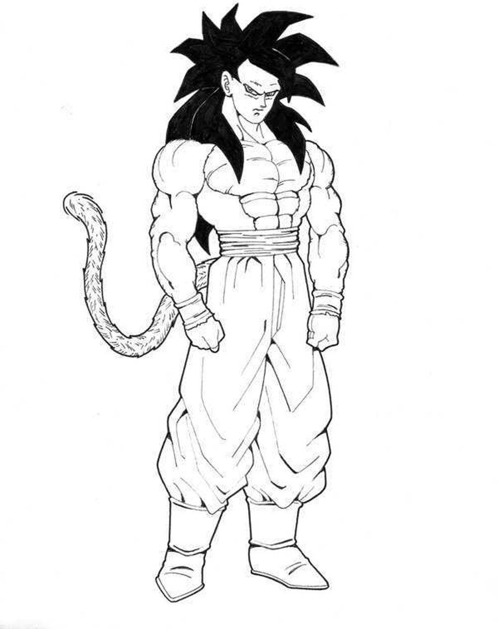 Imagen de Son Goku en fase 4 para imprimir y recortar | Imagen para ...