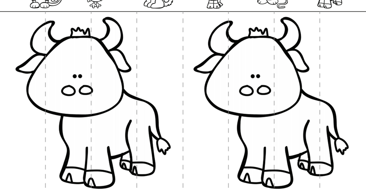 ox.pdf Coloring bookmarks, Chinese new year crafts