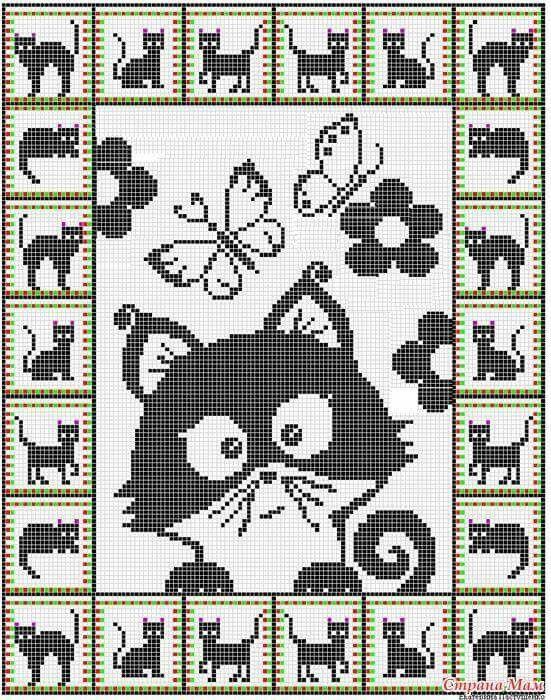 cats cross stitch charts | Вышивка - схемы, дизайны | Pinterest ...
