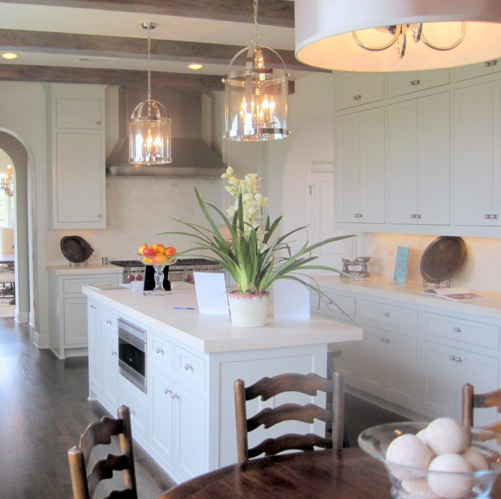 hanging lights over a kitchen island # 31