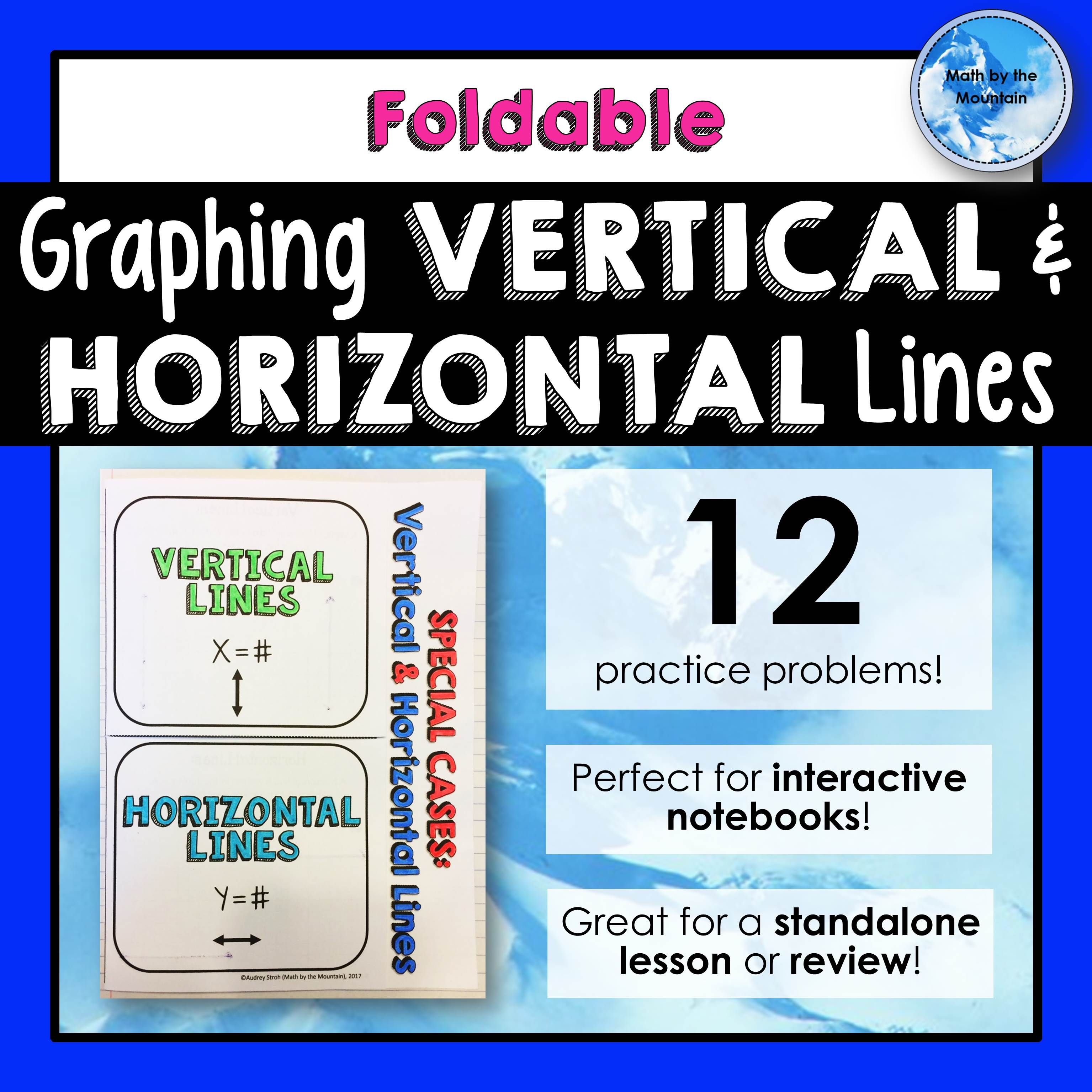 Graphing Horizontal And Vertical Lines Writing Equations