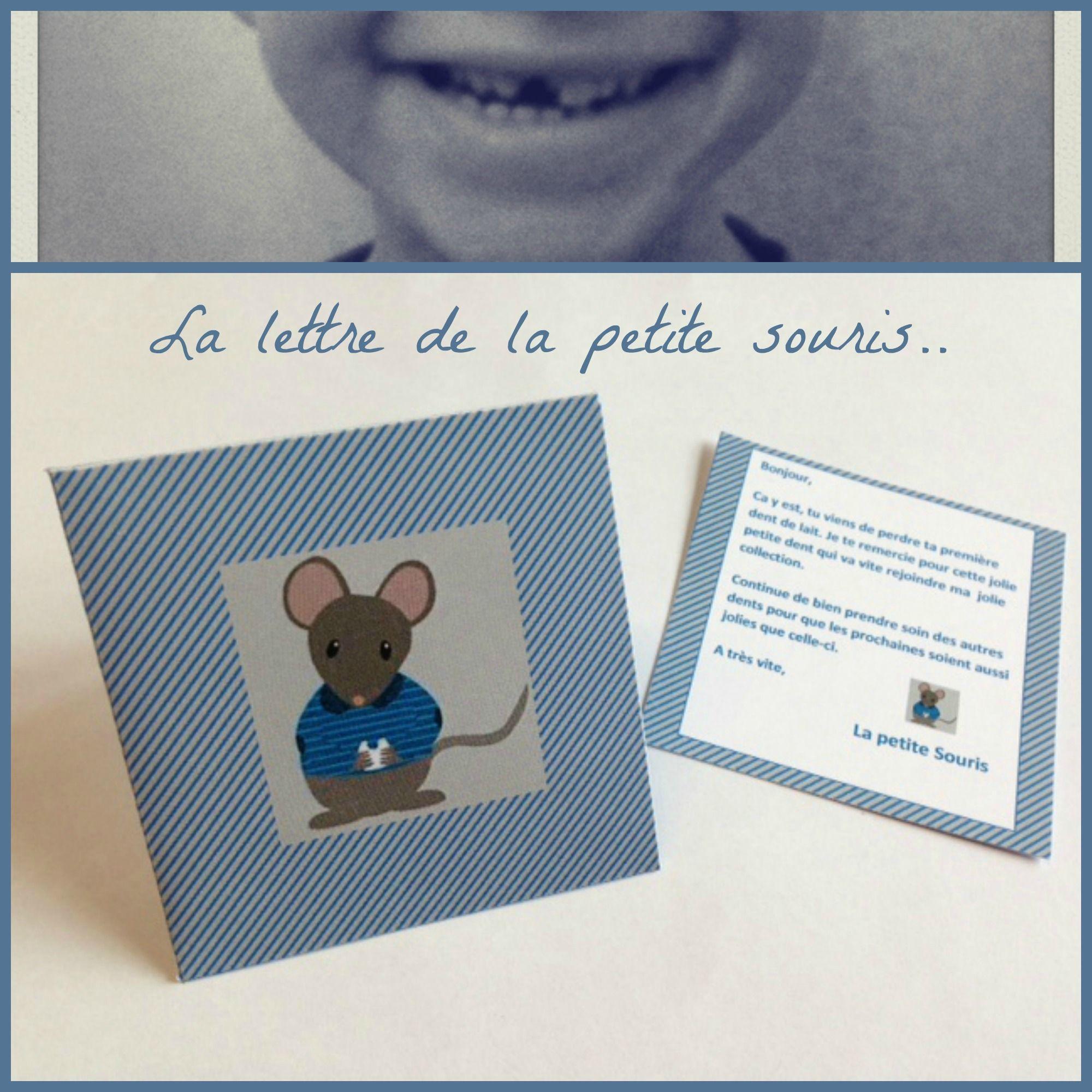 la petite souris est pass e la lettre d poser sous l oreiller et son enveloppe imprimer. Black Bedroom Furniture Sets. Home Design Ideas
