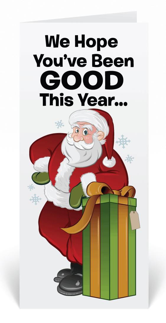 Funny Santa Claus Christmas Holiday Cards, Funny Cartoon Santa ...