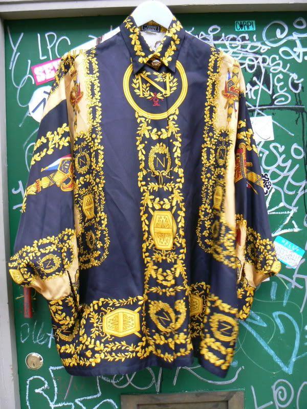 853716fe Gianni Versace Silk Shirts | ZONE7STYLE: Vintage Gianni Versace Atelier Print  Silk Shirt