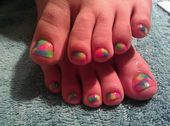 Photo of tie dye toes!  Nail Art Gallery by NAILS Magazine