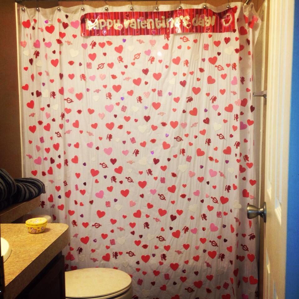 My Valentines Day Shower Curtain