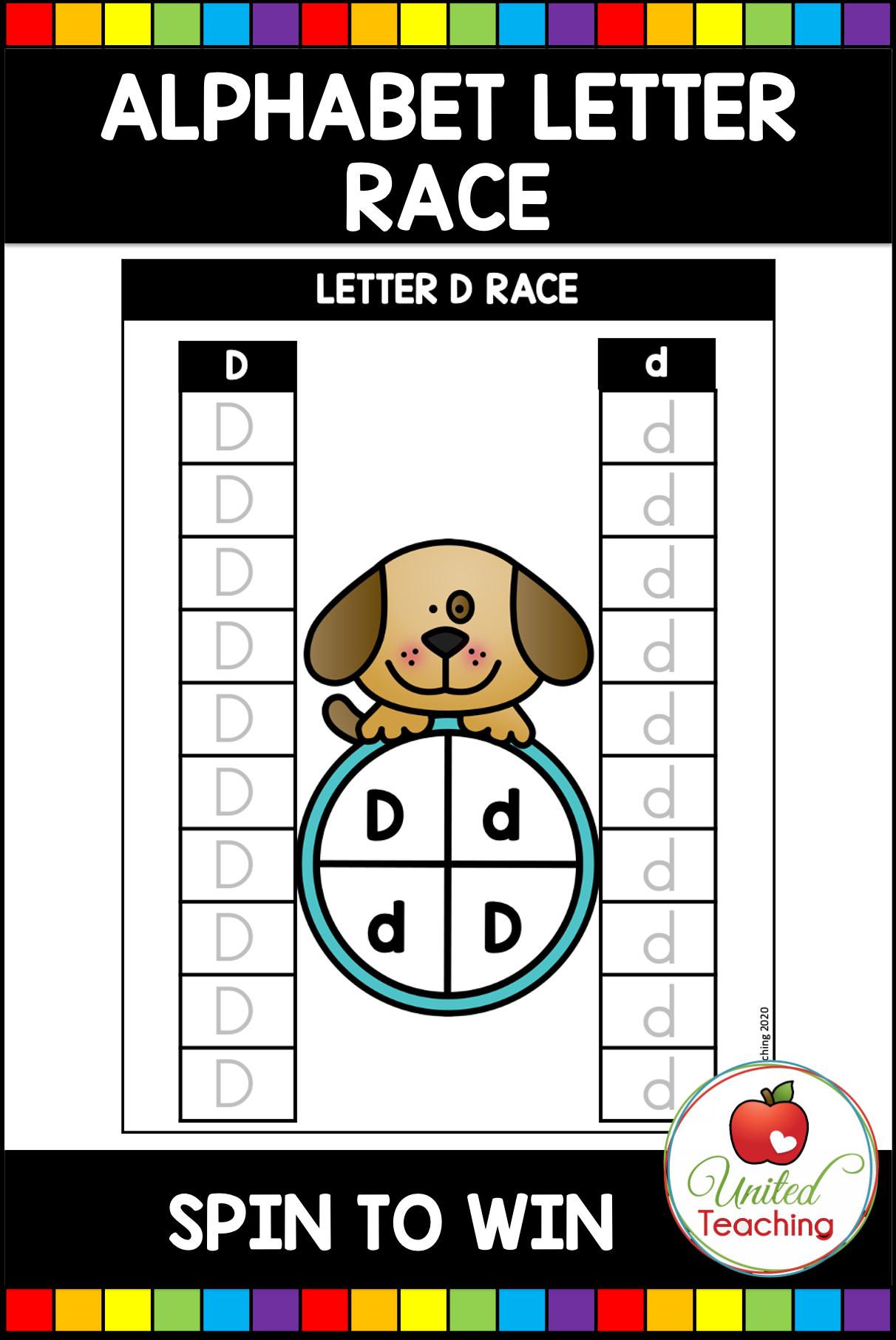 For 24 Hours Alphabet Letter Race In