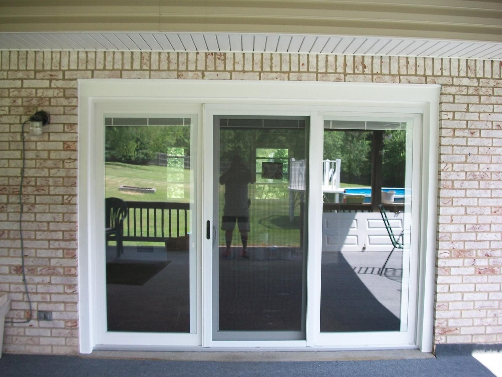 Energy Swing Windows Replacement Doors Three Panel Sliding Glass Door Installed In Apollo Pa Replacement Patio Doors Wooden Patio Doors Glass Doors Patio