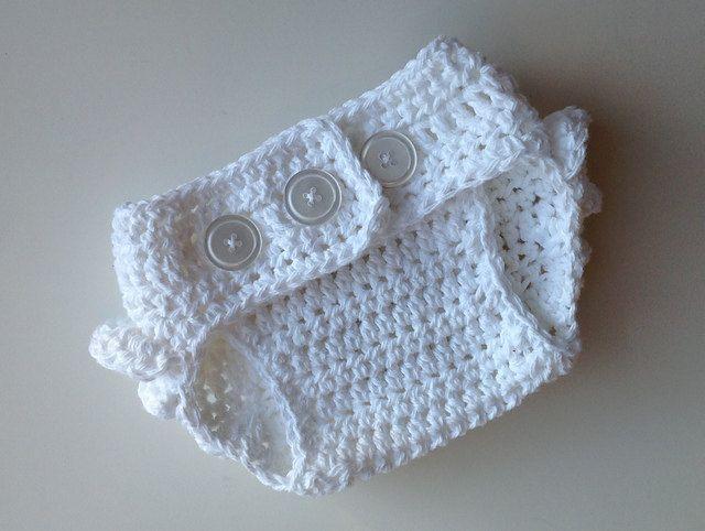 Crochet Pattern for Ruffle Bum Baby Diaper Cover - 3 sizes, Newborn ...