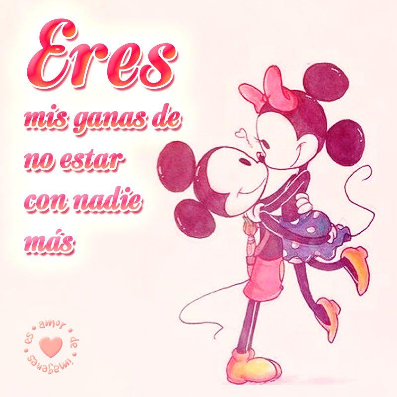 Linda Imagen De Mickey Y Minnie Con Frase Imagenes De Amor