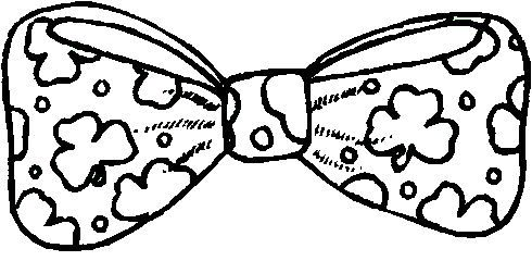 St. Patrick's Day Bow Tie Coloring Page