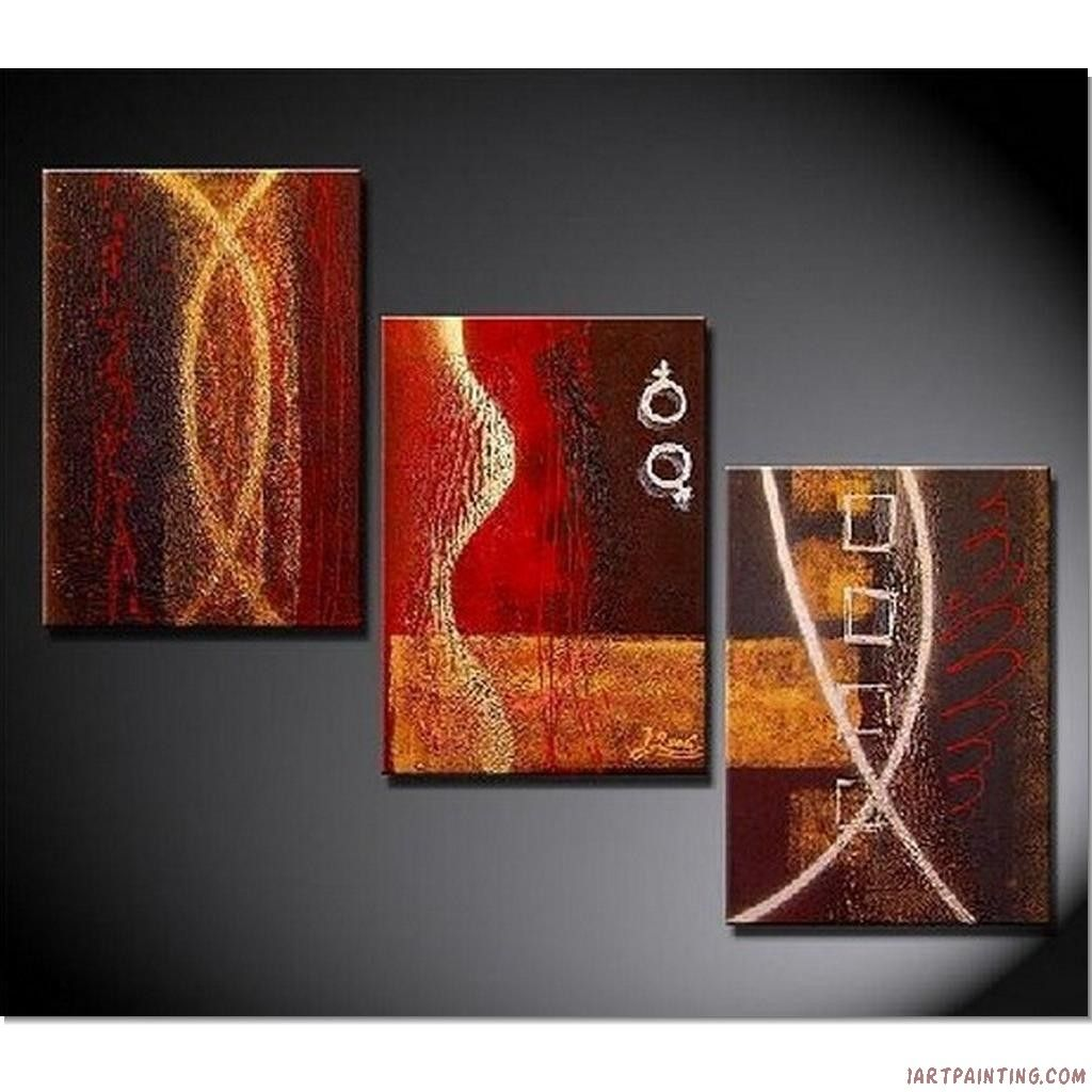 Acrylic+Painting+Ideas | Abstract Paintings 3pcs Canvas Set Modern Wall Art  Acrylic Handmade