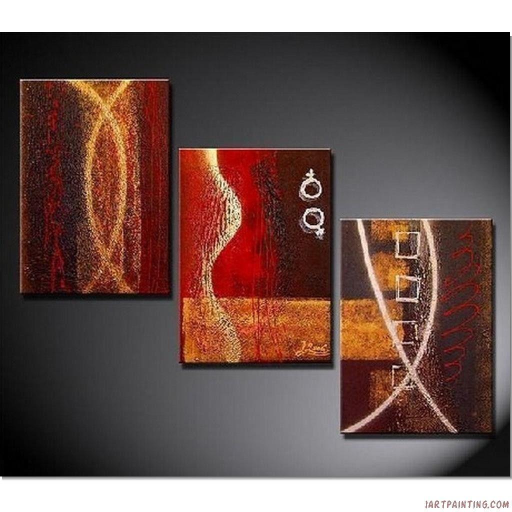 Acrylic Painting Ideas Abstract Paintings 3pcs Canvas Set Modern Wall Art Handmade
