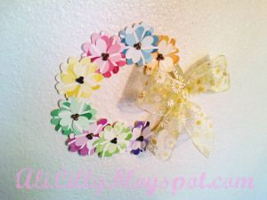 AliLily | Spring Flower Wreath from Paint Chip Samples