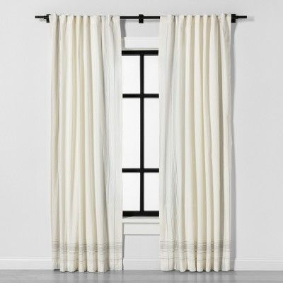 84 Curtain Rod Matte Black Hearth Hand With Magnolia In 2020 Panel Curtains Curtains Hearth Hand With
