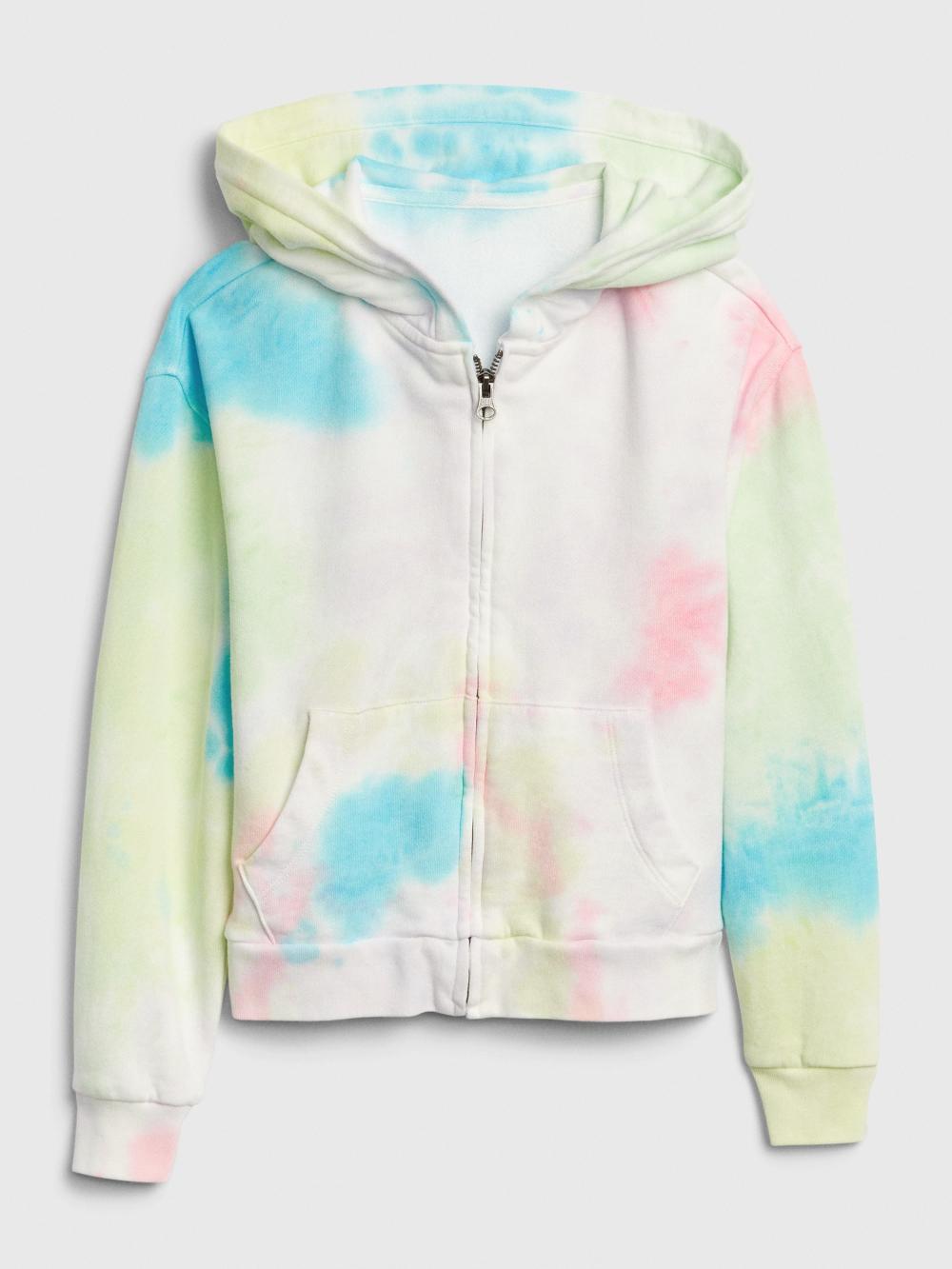 Kids Multi Tie Dye Zip Hoodie Sweatshirt Gap Kids Activewear Girls Activewear Zip Hoodie Sweatshirt [ 1333 x 1000 Pixel ]