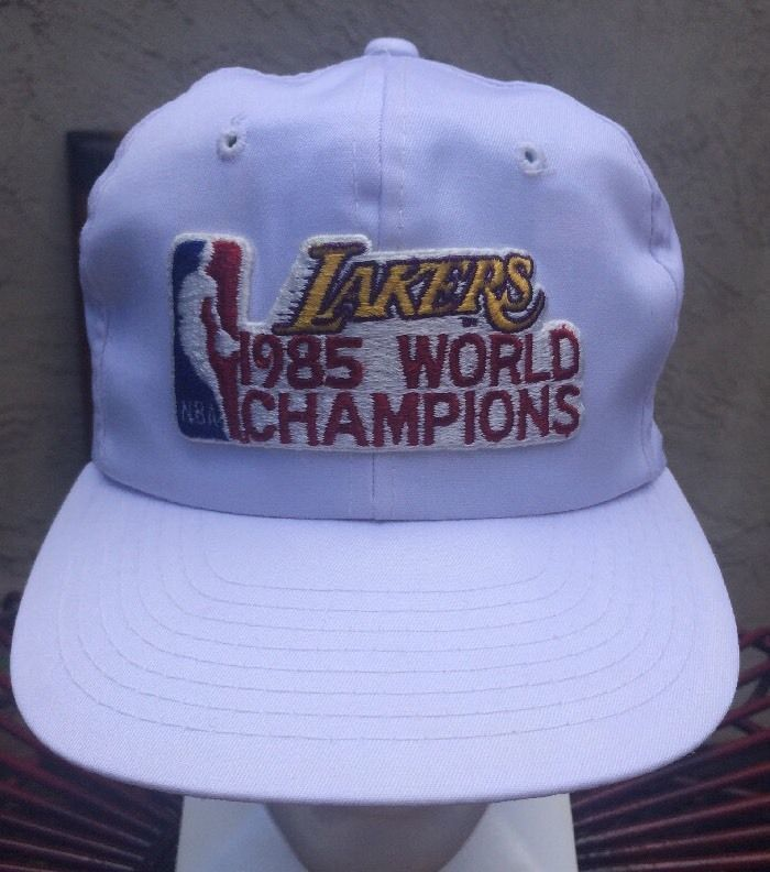 Los Angeles Lakers 1985 Championship Snap Back Hat Cap Nba Champions White Rare Nba Champions Los Angeles Lakers Lakers