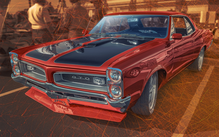 Download Wallpapers Pontiac Gto Artwork Muscle Cars Tuning American Cars Retro Cars Pontiac Pontiac Gto Gto New Car Wallpaper