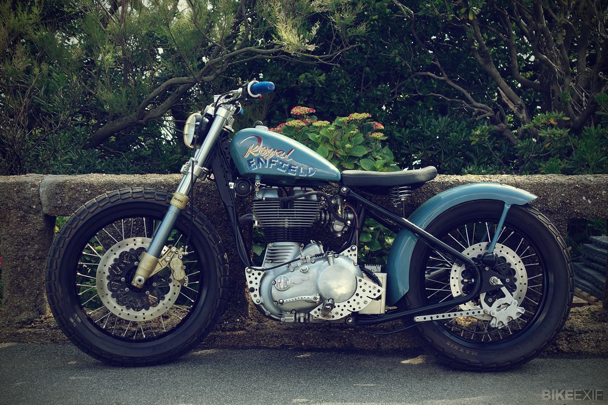 Stunning Royal Enfield bobber, owned by Gary Inman of Sideburn Magazine.
