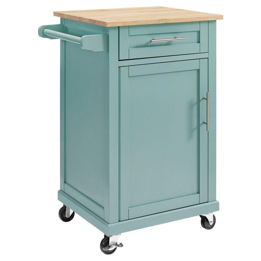 Carey Small Kitchen Cart - Pale Blue - Threshold | {kitchen ...
