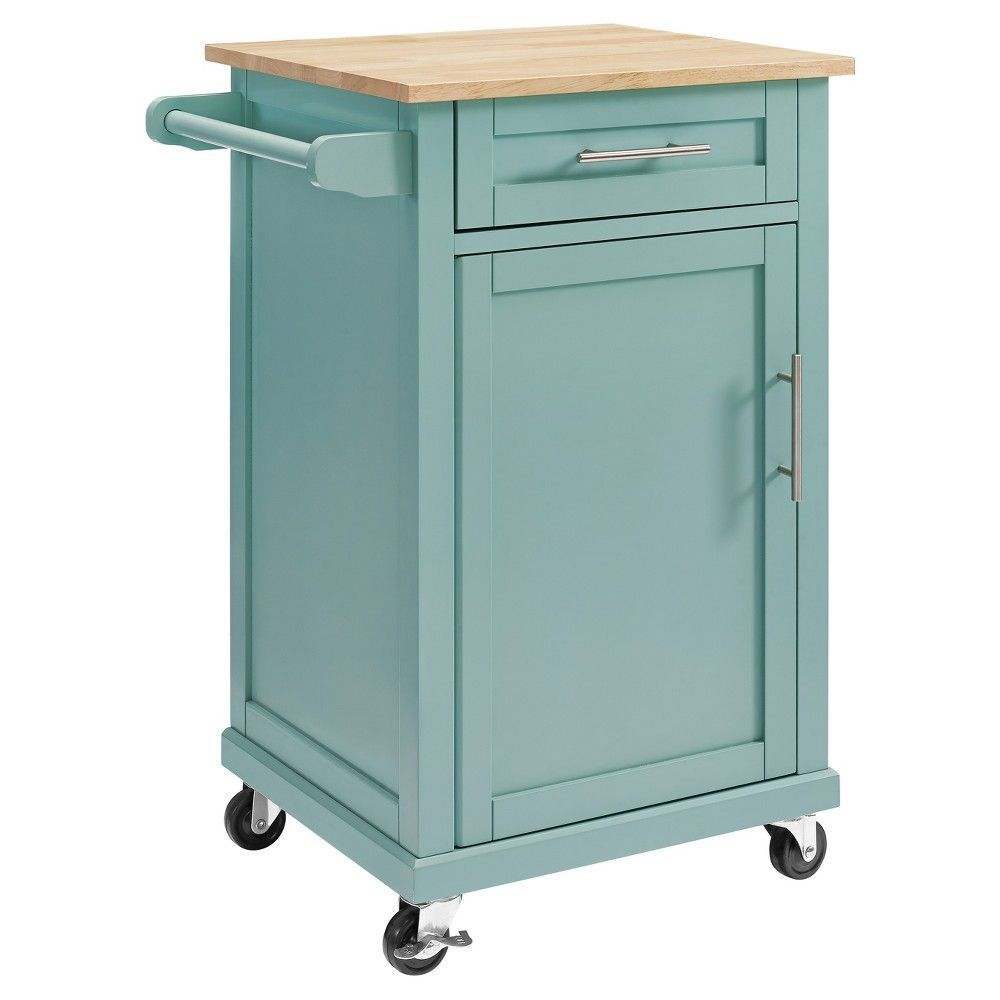 Carey small kitchen cart pale blue threshold