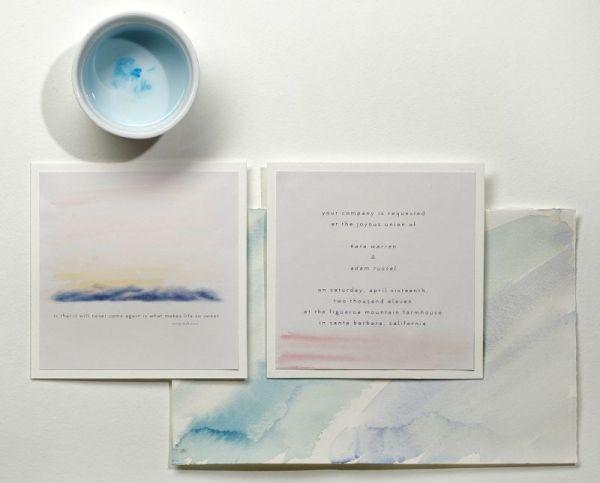 DIY watercolor wedding invitations | Wedding, Wedding and Wedding ...