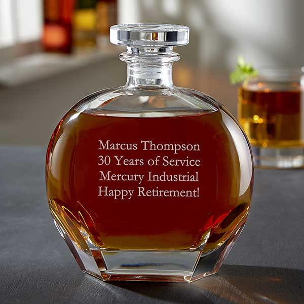 Custom Engraved Whiskey Decanter Add Any Text Whiskey Decanter Decanter Whiskey
