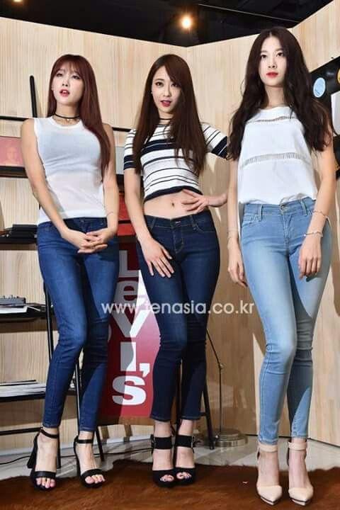 Hyuna, kyungri, minha at Levis launch event