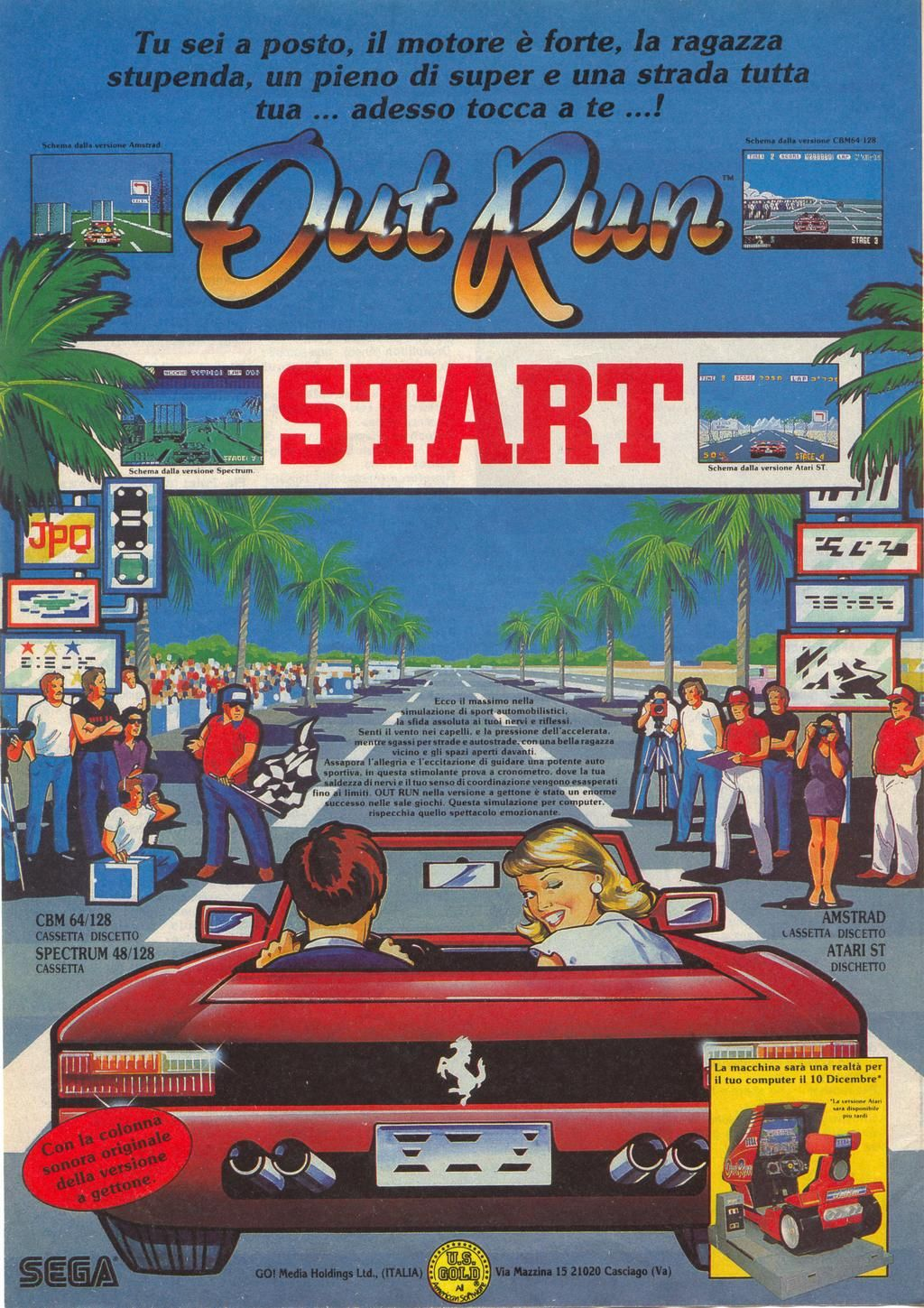 Poster de un gran clasico Out Run - check cheap games here: g2a.com/r/save-money-with-us #Sega #Videogames