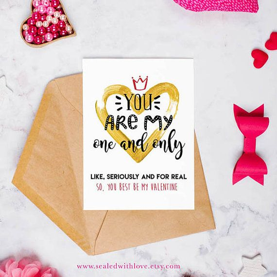 One and Only Valentines Day Printable Note Card by sealedwithlove
