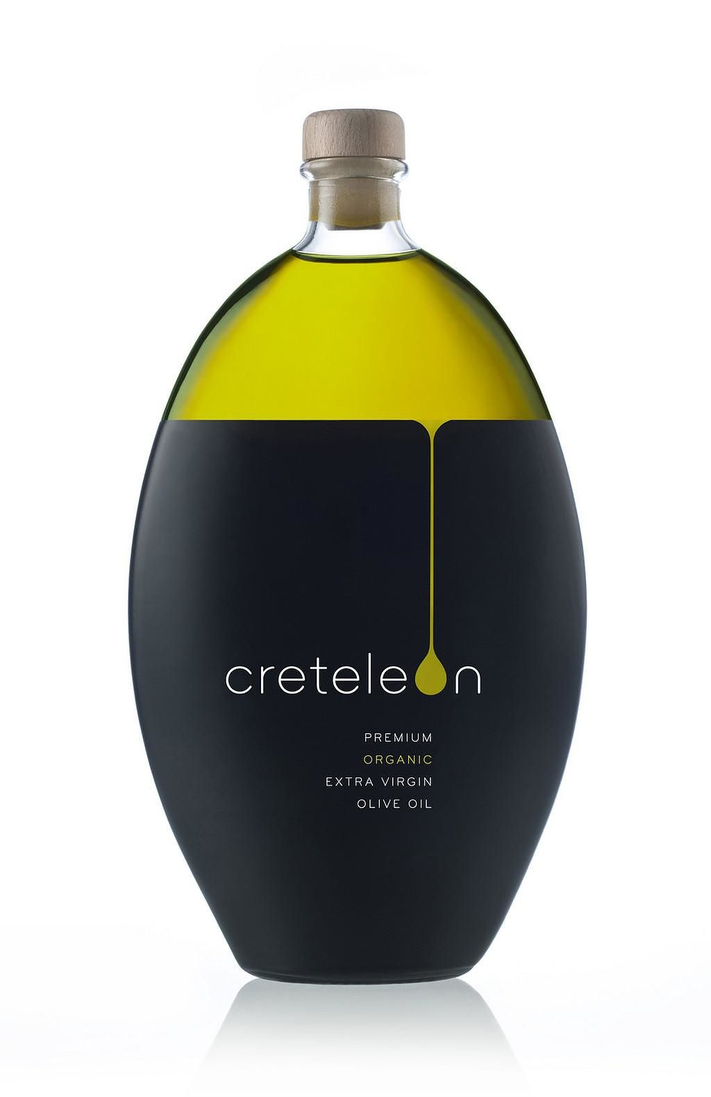 Creteleon Minimalist Olive Oil Packaging by Polydorou Design graphic design studio.