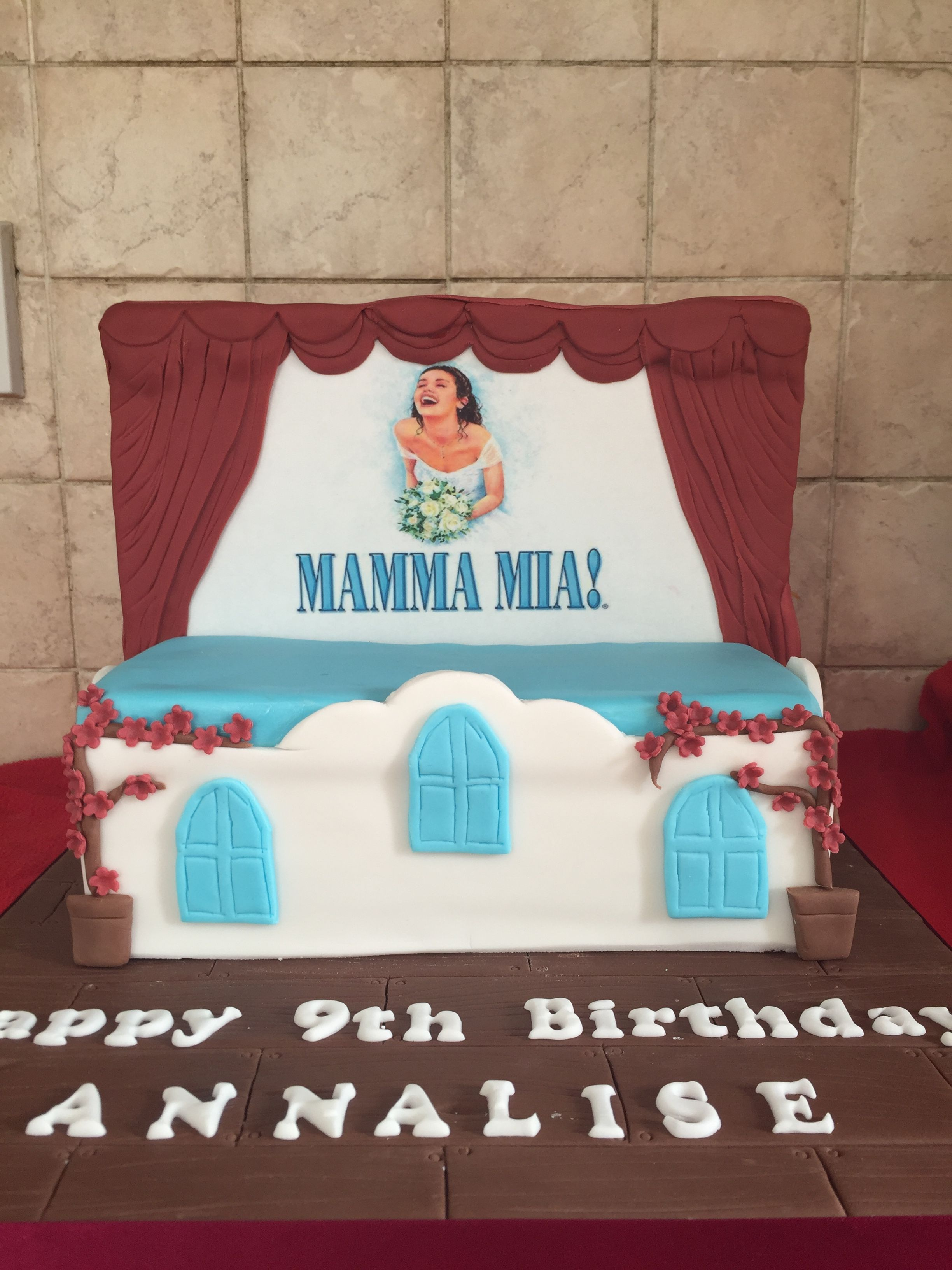 Musical Theatre Loving 9year Olds Mamma Mia Cake Gwen